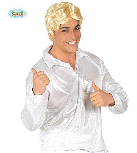 504 - Silbernes Disco-Shirt, Erwachsene (Silbernes Disco-hemd)