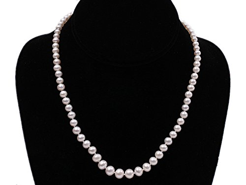jyx 4,5-8mm Graduated classica collana di perle d' acqua dolce rotondo bianco 17