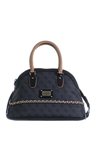 GUESS Tasche Cheatin Heart Dome Satchel 207 coal (Satchel Guess-handtaschen-top-zip)