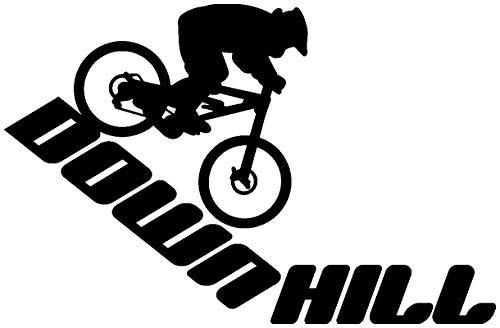 Samunshi® Autoaufkleber Downhill Mountain Bike Aufkleber in 9 Größen und 25 Farben (15x9,8cm schwarz)