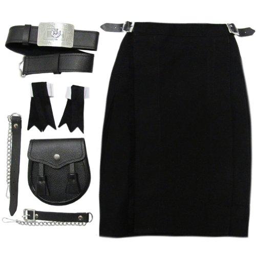 rran, Gürtel, Strumpfband - schwarz - Jungen - 5-6 Jahre (Kinder Scottish Kostüm)