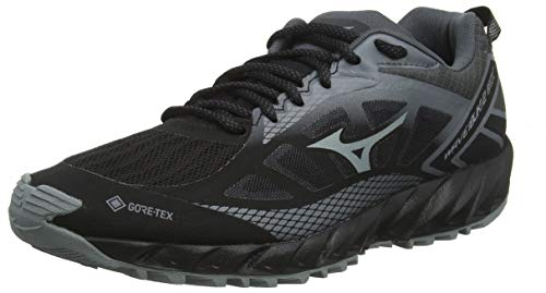 Mizuno Wave Ibuki 2 GTX, Scarpe da Trail Running Donna, Nero (Blk/Monument/Shadow 37), 40 EU