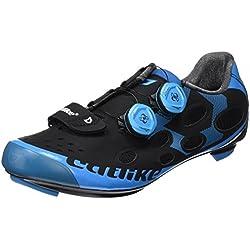 Catlike Whisper Road 2016, Zapatillas de Ciclismo de Carretera Unisex Adulto, Negro (Negro/Azul 000), 43 EU
