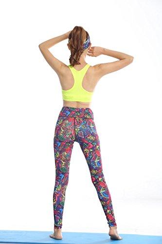 WKAIJCC Donna Sport Giubbotto Reggiseno Biancheria Intima Alta Resistenza Bellezza Indietro Idoneità Supporto Yoga Correre Yellow