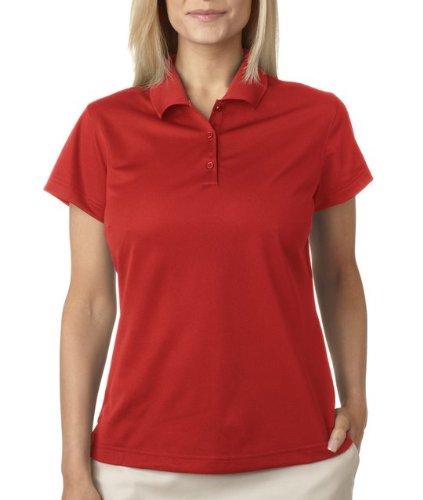 Adidas ClimaLite Basic Short Sleeve Polo, XL, University Red/Black
