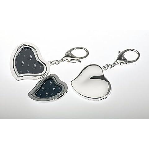 Portachiavi a forma di cuore con cornice portafoto L 10cm, (Portachiavi Portafoto)