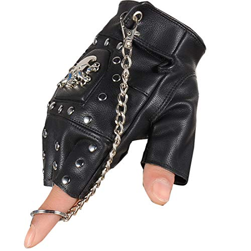 Coolwife Guantes Steampunk Gothic Para Hombre