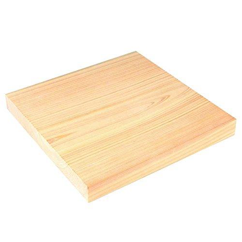 Hinoki tagliere quadrato in legno per cucinare (25cm x 25cm x 3cm, made in Japan)