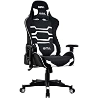 UMI Essentials Gaming Chair Racing Chair Ergonomic Office Chair Fabric Computer Chair Adjustable Height With Headrest and Lumbar Support
