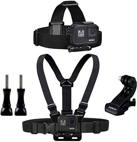 Sametop Gurtsystem Chest Mount Harness Brustgurt Halterung + Kopfband Headstrap Kopfhalterung Kompatibel mit Go Pro Hero 5, 4, Session, 3+, 3, 2, 1 Kameras
