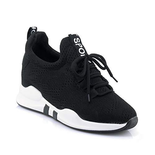 Frauen Air Mesh Atmungsaktive Schuhe Sommer Unisex Lace Up Solide Shallow Baumwollgewebe Plattform Outdoor Turnschuhe