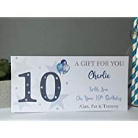 Personalised Birthday Card Money Gift Voucher Wallet Boys Stars Balloon 12th 13th 14th 15th 16th 18th 21st