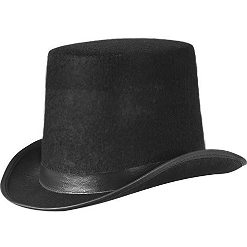 Master Kostüm Kinder Ring - JJMS Brand Fantastic Black Top Hat Great Quality Hard Felt top Hat Delivered By Amazon