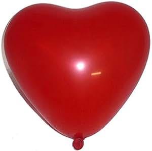 100 große Herzluftballons, rot -16630-