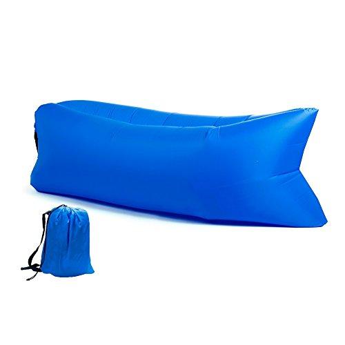 Puff Hinchable Sofa Tumbona de Aire Color Azul Oscuro