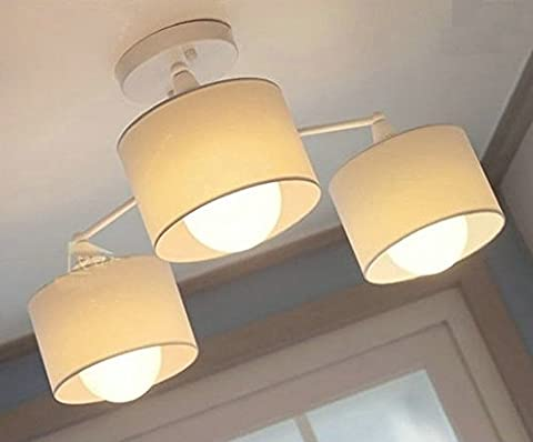DPG Lampes de plafond modernes Fixture Semi-Flush Mount type Blanc