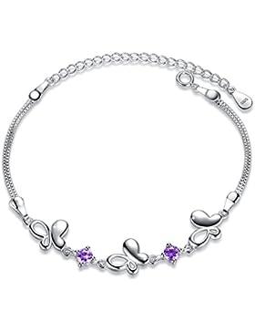 Fashmond Valentinstag Geschenke Schmuck Armband für Damen Mädchenaus 925 Sterling Silber & Kristall Für Kindertag...