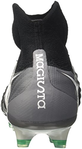 Nike Magista Obra Ii Fg, Chaussures de Football Homme Noir (Black/White-Dark Grey-Stadium Green)