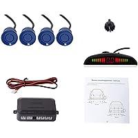Cocar Coche Auto Vehículo Visual Reserva Radar Sistema con 4 Estacionamiento Sensores + Distancia Info Vídeo Salida + Sonido Advertencia (Azul Color)