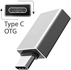 Cable World Ultra-thin USB 3.1 Type-C Male OTG to USB 3.0 Female for Smartphones (Silver)