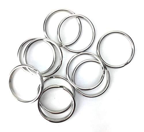 Preisvergleich Produktbild 20 Schlüsselringe 25mm aus vernickeltem,  gehärtetem Stahl dt. Herstellung