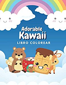 Adorable Kawaii Libro Colorear: Diseños