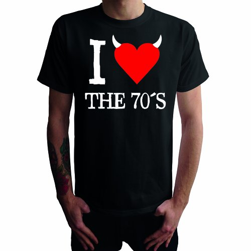 I don't love the 70's Herren T-Shirt Schwarz