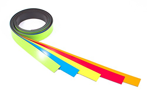 Magnetband farbig sortiert Meterstücke 5 x 1 Meter 20 mm breit