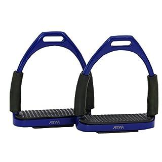Amesbichler AMKA Steigbügel mit Gelenk dunkelblau | Sicherheitssteigbügel | Steigbügel | Flexible Safety Stirrups Horse Riding