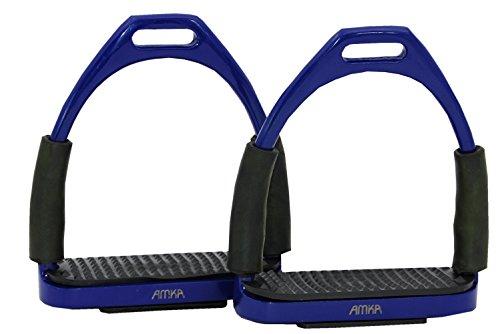 Reitsport Amesbichler AMKA Steigbügel mit Gelenk dunkelblau Sicherheitssteigbügel Steigbügel Flexible Safety Stirrups Horse Riding