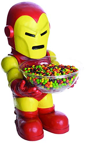 Lussuoso Pirata – Iron Man Figura Come Candy Bowl Holder Porta Caramelle, Decorazione, Ideale per Ogni Festa di Halloween, Rosso