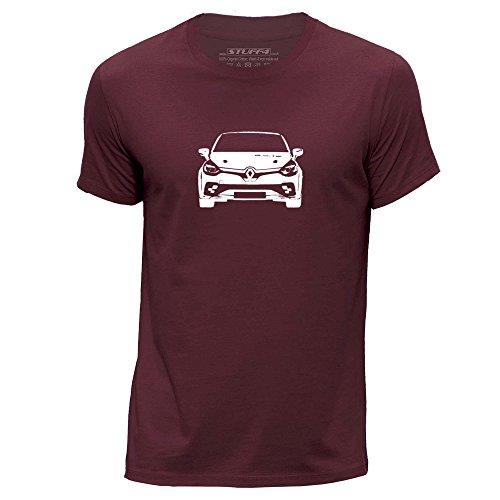 stuff4-uomo-medio-m-borgogna-girocollo-t-shirt-stampino-auto-arte-clio-rs16