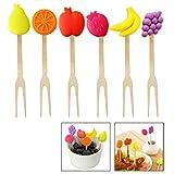 Xrten 6 Pcs Mini Tenedor de Fruta de Acero Inoxidable para
