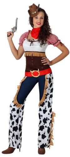 Atosa - Disfraz de vaquera para mujer, talla M/L (15730)