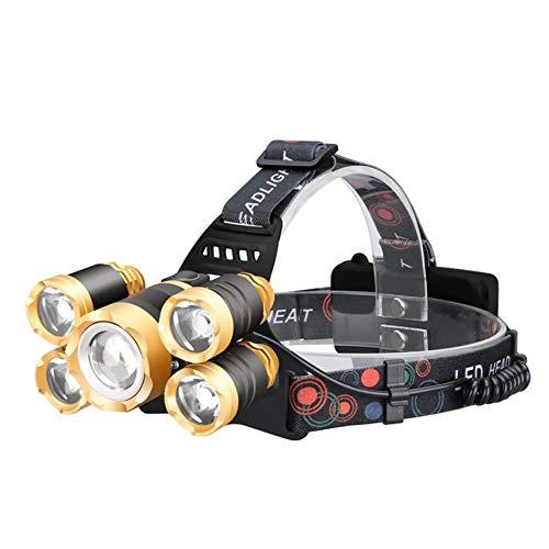 AKBQ T6 Außenbeleuchtung Induktion Starke Scheinwerfer - Scheinwerfer 5 Flugzeuge Nachtfischen Und Nachtreiten Verwenden, Etc. Bereich 5.2-grad-strahl
