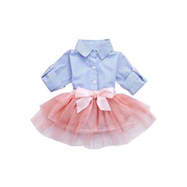 Ropa de Bebé,RETUROM 2018 2pcs bebé niñas arco rayas Tops + tutú falda conjuntos 2
