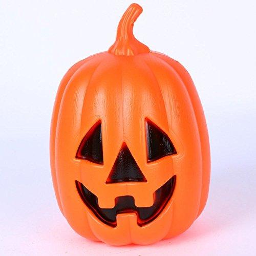AMZH Kürbis Nachtlicht Halloween Nachtlicht Schmücken Bar Nacht Shop Schmücken Orange Dreieck Smiley Kürbis Laterne Große Halloween Laterne Kunststoff