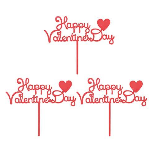 Yeahibaby happy valentine's day cake topper migliore decorazione di torta per anniversari, san valentino