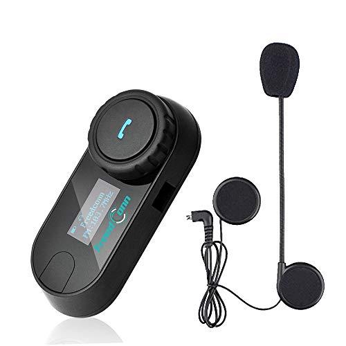 Freedconn Auriculares Intercomunicador Bluetooth de Casco de Motocicleta Moto Intercom Headset 1000M (1BIF006)