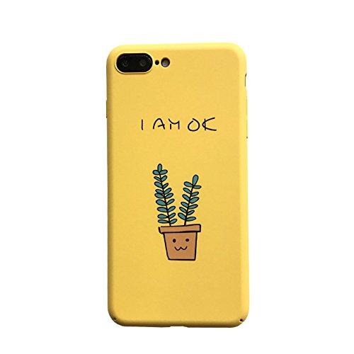 Gelb iPhone 7Schutz Hülle, iPhone Slim stoßfest Kratzfest rutschfeste 11,9cm-Pflanze Flowerfull Schutz Fall, iPhone 6S Plus/6 Plus (Koreanische Iphone 6 Fall)