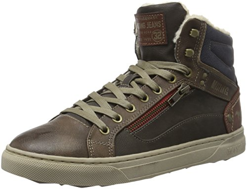Mustang 4108-602, Sneakers Hautes Homme Marron (330 braun/dunkelbraun)