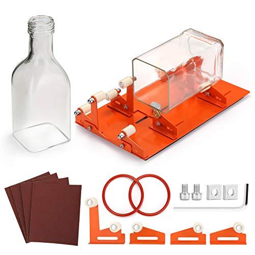 Bottle Cutter, FIXM Aktualisierte Flaschenschneider für verschiedener Größen & Formen wie Runde, Rechteckige, Ovale Flasche & Flaschenhals mit Extra Stütze für DIY Kreationen & perfektes Geschenk
