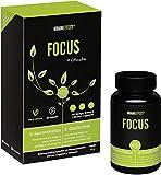 BRAINEFFECT FOCUS - Natürlicher Booster mit Vitamin B5 für Konzentration und Gedächtnisleistung - 60 Kapseln - OHNE Koffein - mit CDP-Cholin - Vegan
