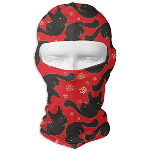 Pizeok Windproof Balaclava, Cat On Red Cover Face Mask for Ski&Snowboard New7 8 Gore-cover