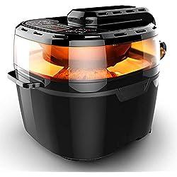 VPCOK Friteuse sans Huile, Friteuse électrique à air Chaud Température Réglable 80°C~240°C, Chauffage rotatif 8-en-1, XXXL pour 4-7personnes