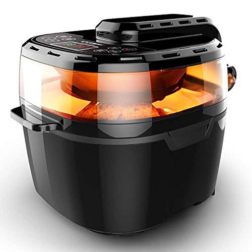 VPCOK Freidora Sin Aceite Inteligente, 10 L, 7 Piezas, Multifuncional Air Fryer de Gran Capacidad, Freidora de Aire, Cocina Visual, Negro
