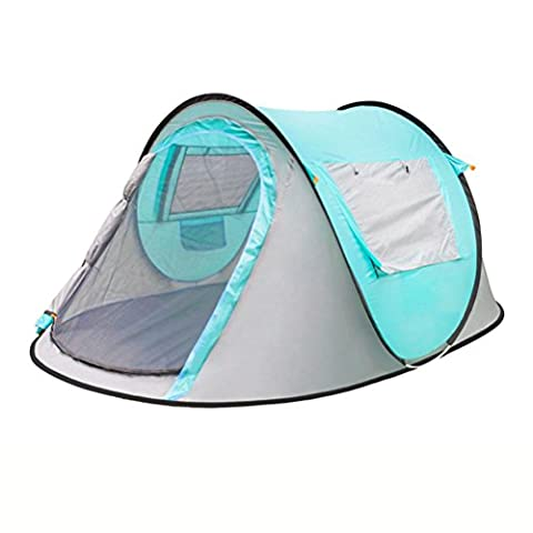 Mountaintop Automatic Pop Up Tent Backpacking Tents With Carrying Bag For 2 Or 3 Person , Days Blue,days