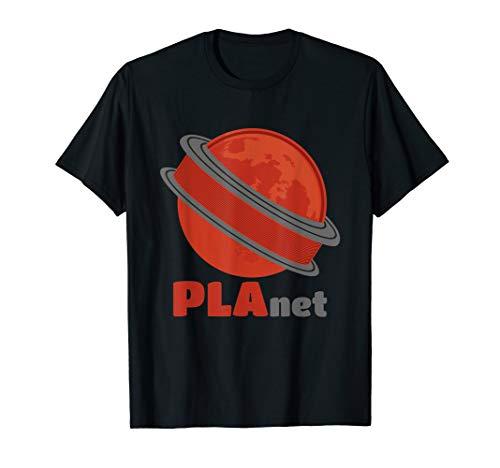 3D Druck PLAnet Lustiges 3D Print Filament Design Geschenk T-Shirt