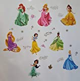 Princesses Stickers Muraux Princesses Disney Chambre D'enfants, Stickers Mural Enfant Fille Chambre Bebe Wall Sticker Kids Autocollants Princesse