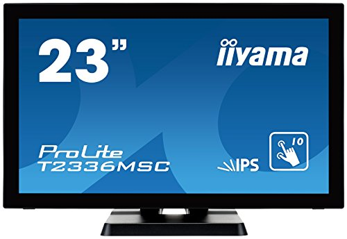 iiyama ProLite T2336MSC-B2 58,4cm (23 Zoll) IPS LED-Monitor Full-HD 10 Punkt Multitouch kapazitiv (VGA, DVI, HDMI, USB3.0) schwarz 23 Led-lcd-monitor
